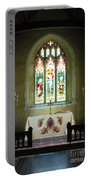 Altar And Stained Glass Window Nether Wallop Portable Battery Charger