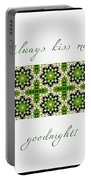 Always Kiss Me Goodnight Green 2 Portable Battery Charger
