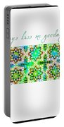 Always Kiss Me Goodnight Green  Portable Battery Charger