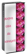 Always Kiss Me Goodnight Pink Portable Battery Charger