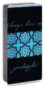 Always Kiss Me Goodnight Stars Portable Battery Charger