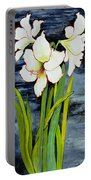 Amaryllis Against A Night Sky Portable Battery Charger