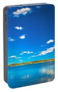 Amazing Clear Lake Under Blue Sunny Sky Portable Battery Charger