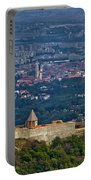 Amazing Medvedgrad Castle And Croatian Capital Zagreb Portable Battery Charger