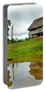 Amazon River Reflections-peru  Portable Battery Charger