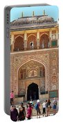 Amber Fort Entrance To Living Quarters - Jaipur India Portable Battery Charger
