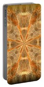 Amber Fractal Portable Battery Charger