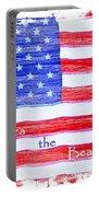 America The Beautiful Portable Battery Charger by Robert ONeil