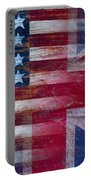 American British Flag Portable Battery Charger by Garry Gay