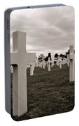 American Cemetery In Normandy  Portable Battery Charger