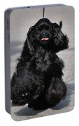 American Cocker Spaniel In Action Portable Battery Charger