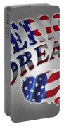 American Dream Digital Typography Artwork Portable Battery Charger