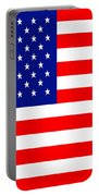American Flag . Square Portable Battery Charger