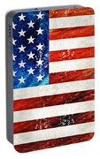 American Flag Art - Old Glory - By Sharon Cummings Portable Battery Charger