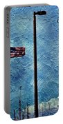American Flag As A Painting Portable Battery Charger