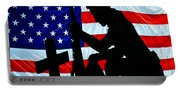 A Time To Remember American Flag At Rest Portable Battery Charger