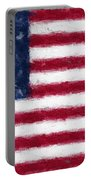 American Flag Embossed Portable Battery Charger