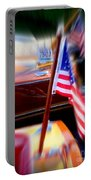 American Flag Focus Portable Battery Charger