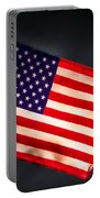 American Flag In Smoke Portable Battery Charger
