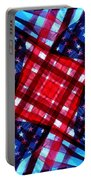 American Flag Kaleidoscope Portable Battery Charger