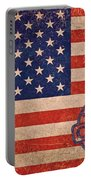 American Flag Made In China Portable Battery Charger