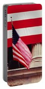 American Flag On The Front Portable Battery Charger