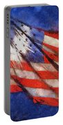 American Flag Photo Art 02 Portable Battery Charger