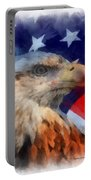 American Flag Photo Art 03 Portable Battery Charger