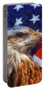 American Flag Photo Art 04 Portable Battery Charger