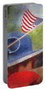 American Flag Photo Art 06 Portable Battery Charger