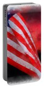American Flag Photo Art 07 Portable Battery Charger