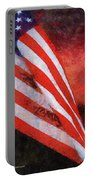 American Flag Photo Art 08 Portable Battery Charger