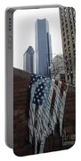 American Flag Tattered Portable Battery Charger