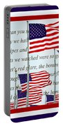 American Flag Tribute  Portable Battery Charger