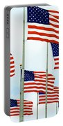 American Flags Portable Battery Charger