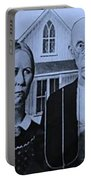American Gothic In Colors Portable Battery Charger
