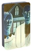 American Gothic In Negative Portable Battery Charger