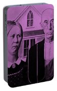 American Gothic In Pink Portable Battery Charger