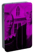 American Gothic In Purple Portable Battery Charger