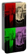 American Gothic In Quad Colors Portable Battery Charger