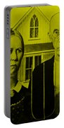 American Gothic In Yellow Portable Battery Charger