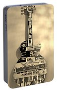 American Guitar In Sepia Portable Battery Charger