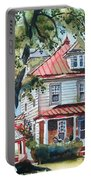 American Home With Children's Gazebo Portable Battery Charger by Kip DeVore