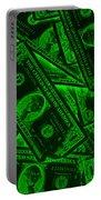 American One Dollar Bills Pop Art Portable Battery Charger