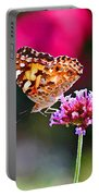 American Painted Lady Butterfly Pink Portable Battery Charger