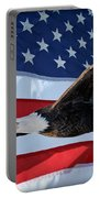 American Proud Portable Battery Charger by Gary Keesler