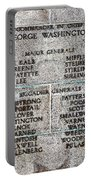 American Revolutionary War Generals Portable Battery Charger