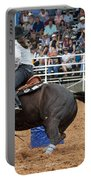 American Rodeo Female Barrel Racer Dark Horse II Portable Battery Charger