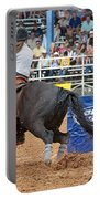 American Rodeo Female Barrel Racer Dark Horse IIi Portable Battery Charger by Sally Rockefeller