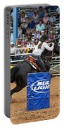American Rodeo Female Barrel Racer Dark Horse Iv Portable Battery Charger
